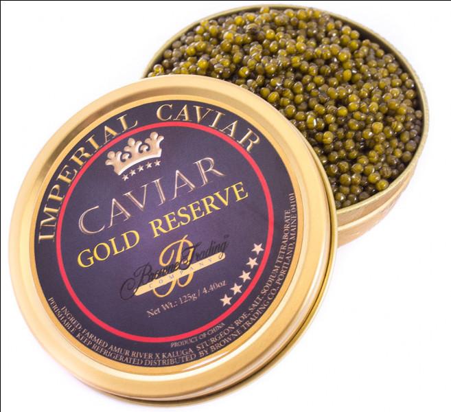 No 2 - 18 300 euros le kilo. Ça fait cher la tartine !On se contentera donc de tarama. Néanmoins, ce caviar d'exception provenant d'esturgeons albinos est servi dans un écrin en or. Quel est son nom, proche de celui d'un pont parisien ?