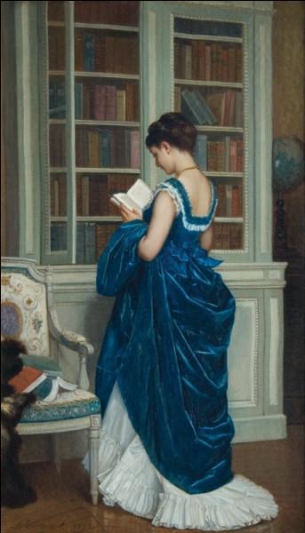"""Quel peintre est l'auteur du tableau """"Dans la bibliothèque"""" ?"""