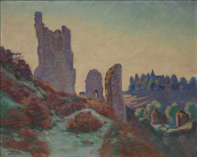 """Qui a réalisé """"Les ruines du château de Crozant"""" ?"""