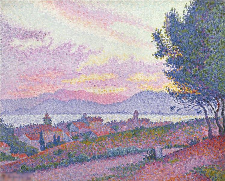 """Qui a réalisé l'oeuvre pointilliste """"Vue de Saint-Tropez"""" ?"""
