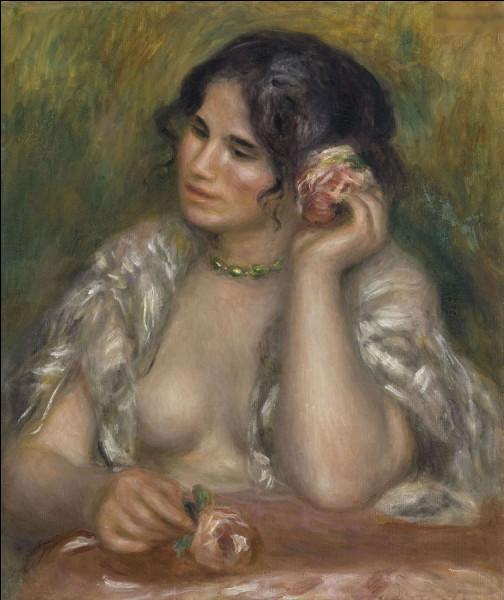 """""""Gabrielle à la rose"""" est l'oeuvre de quel peintre ?"""