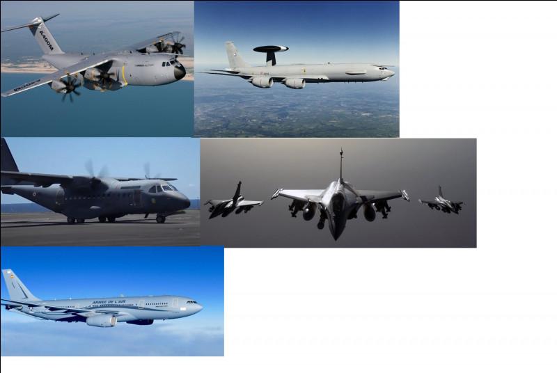 Passons maintenant aux aéronefs et véhicules terrestres. Citez les avions présents ici.