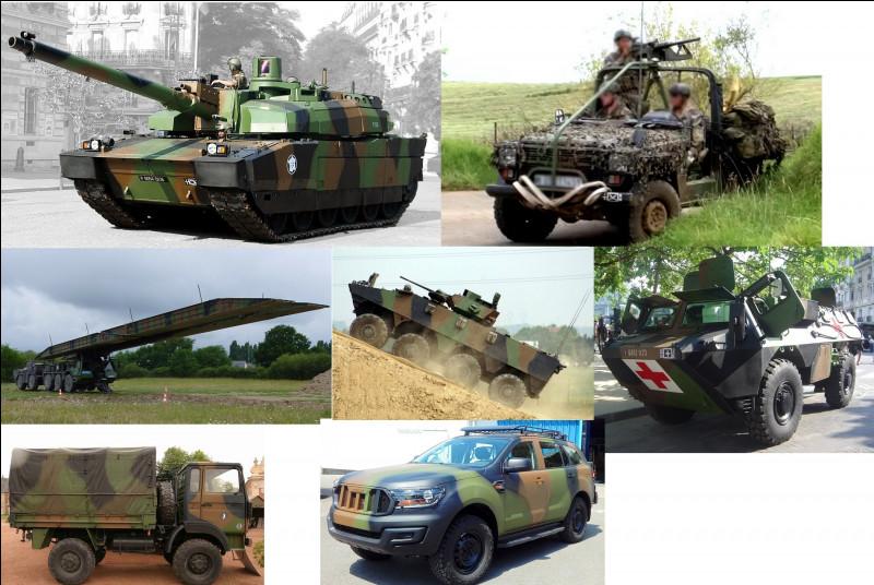 Citez les véhicules de l'armée de Terre présents sur l'image :