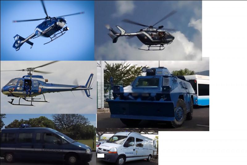 Citez les hélicoptères de la gendarmerie présents sur l'image :