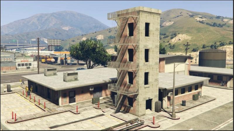 Dans quelle ville de GTA V cette caserne de pompier est-elle installée ?