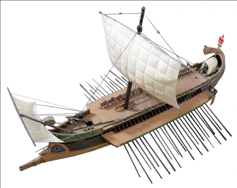L'armée romaine impériale comptait plus de 1000 navires.