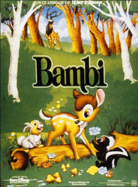 """Dans le Disney """"Bambi"""", qui est le personnage qui dit """" Pour commencer, vous avez des jambes qui se jouent des castagnettes"""" ?"""