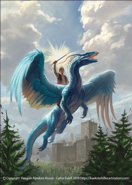 """Dans le tome 1 du livre """"Eragon"""", Saphira sait cracher du feu."""