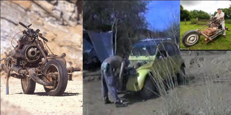 En 1993, au cours d'un raid dans le désert marocain, monsieur Emile Leray eut un accident qui rendit sa 2cv Citroën inutilisable.Par quelle astuce cette personne réussit à relier la ville la plus proche avec son… véhicule.