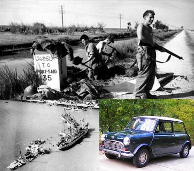 Parfois, des événements politiques, militaires, voire les deux, amènent à la création d'une nouvelle voiture. C'est le cas de la Mini de la British Motor Corporation (BMC).Quel est cet événement ?