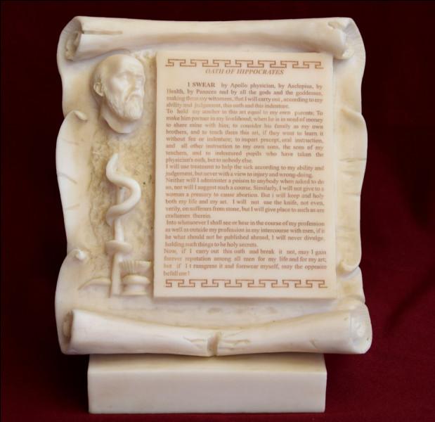 Pour exercer quelle profession doit-on prononcer le serment d'Hippocrate ?