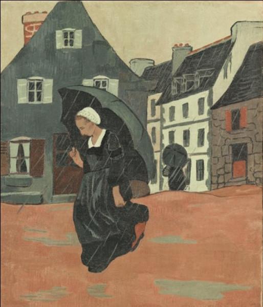 """On finit avec """"L'Averse"""", toile du peintre nabi :"""