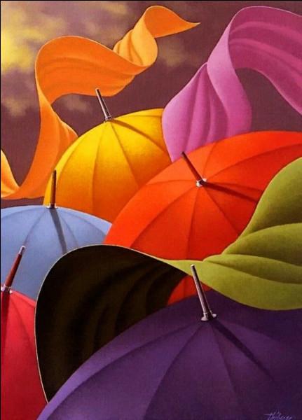 C'est le peintre des parapluies, par excellence !