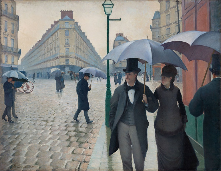 """Qui a peint """"Rue de Paris, temps de pluie"""" ?"""