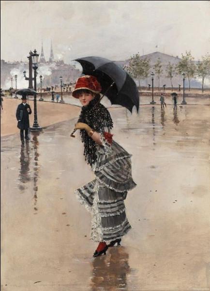 """Qui a peint """"Parisienne un jour de pluie"""" ?"""
