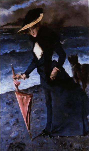 Encore une femme au parapluie : de qui était-elle le modèle ?