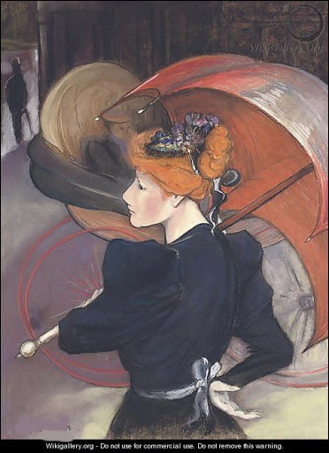 """Autre """"Femme au parapluie"""" par l'artiste :"""