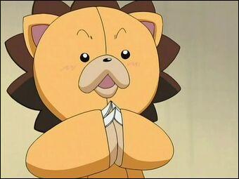 Comment s'appelle la peluche en forme de lion ? (Bleach)