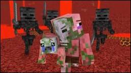 Que se passe-t-il quand on tape un cochon zombie (pigman) ?