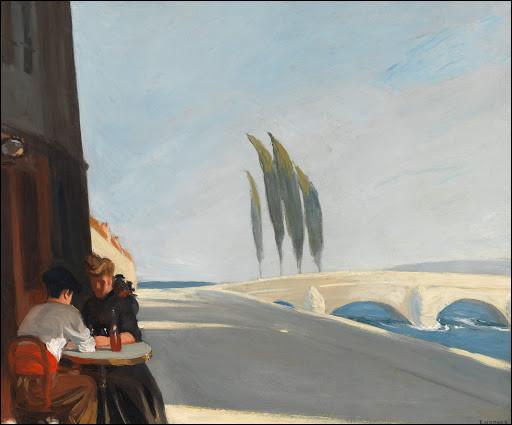 """Quel peintre américain du début XXe a réalisé le tableau """"Au bistrot"""" ?"""