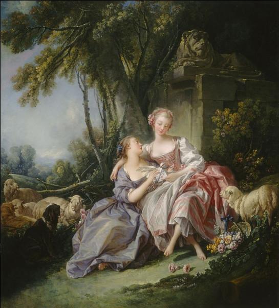 """Quel peintre français du XVIIIe a réalisé le tableau """"La Lettre d'amour"""" ?"""