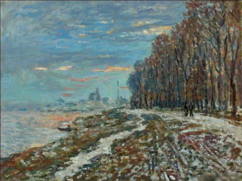 """""""La promenade à Argenteuil, soir d'hiver"""" est l'œuvre de quel peintre ?"""