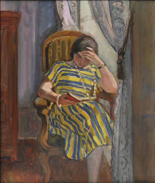 """Quel peintre est l'auteur du tableau """"Femme lisant"""" ?"""