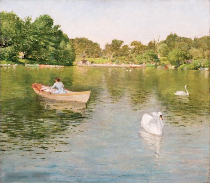 """Quel impressionniste américain a réalisé """"Sur le lac, Central Park"""" ?"""