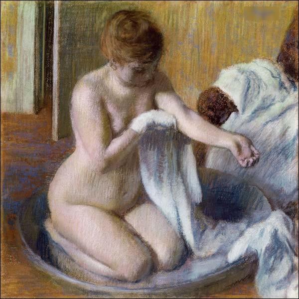 """Qui a réalisé le tableau """"Après le bain"""" ?"""