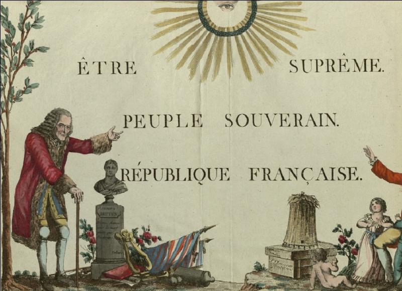 Quel révolutionnaire surnommé ''l'Incorruptible'' a imposé ''le culte de l'Être suprême'' ?