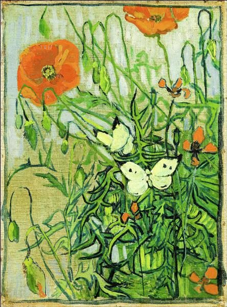 """Qui a peint """"Coquelicots et papillons"""" ?"""