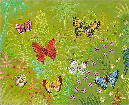 """Qui a réalisé cette """"Parade de papillons"""" ?"""