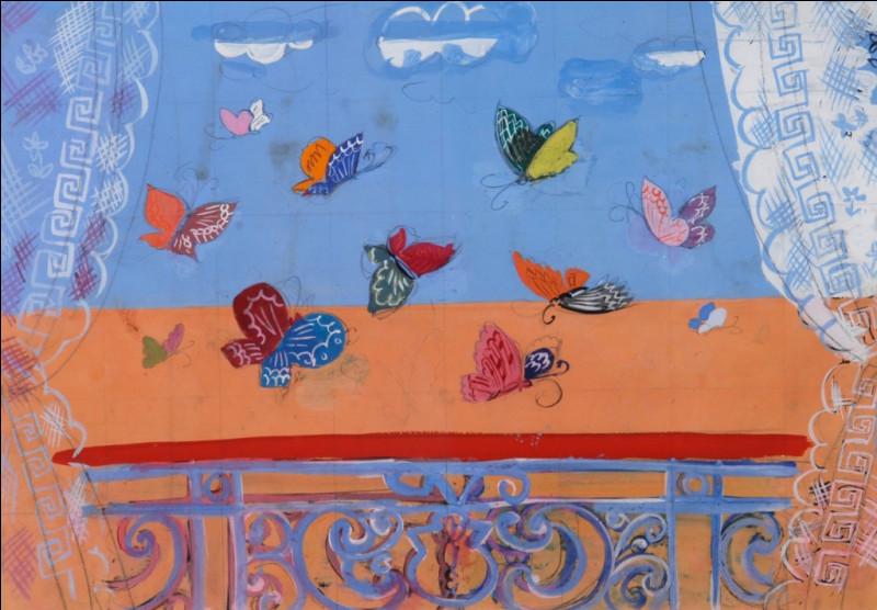 """Qui a réalisé le tableau intitulé """"Balustrade aux papillons"""" ?"""