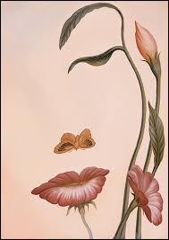 """C'est un petit papillon qui forme le nez de cette """"femme fleur"""" créée par le grand maître de l'illusion :"""
