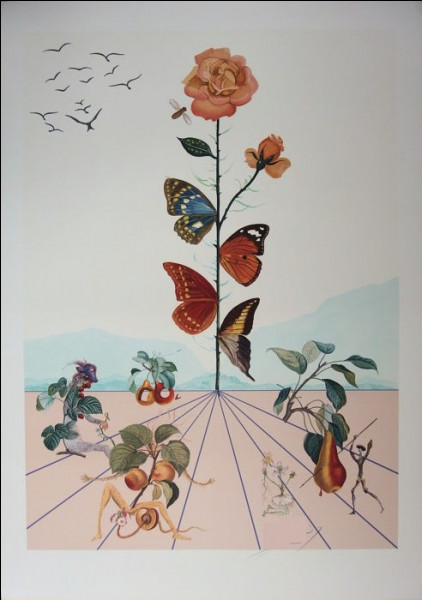 """À qui doit-on la lithographie """"La Rose papillon"""" ?"""