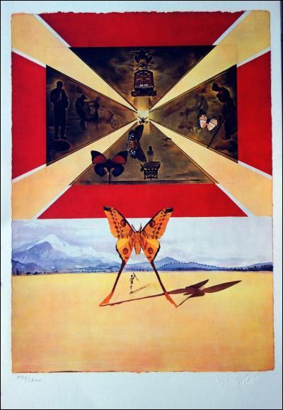 À qui est cette toile sur laquelle un papillon trône au premier plan ?