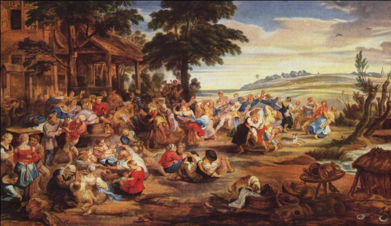 Que font les personnages de ce tableau de Pierre Paul Rubens peint en 1630 ?