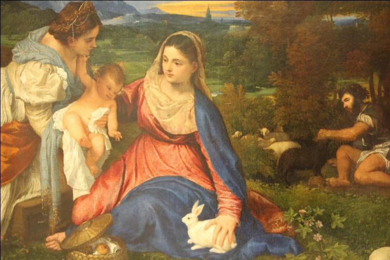 Que ne voit-on pas sur ce tableau peint par Titien 1525 ?