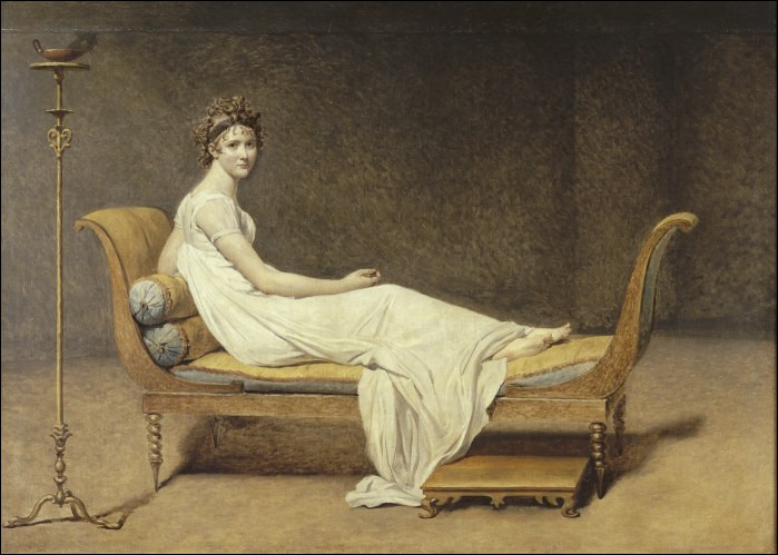 À quel style correspond le mobilier visible sur ce tableau de Jacques-Louis David ?
