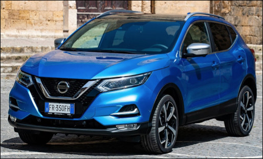 Quel est ce modèle de type crossover produit par le constructeur Nissan ?