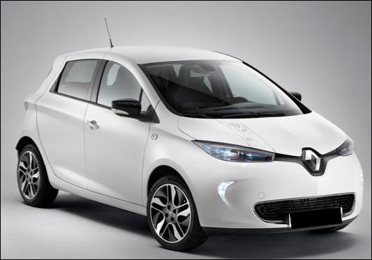 Quel est ce modèle de voiture électrique du constructeur Renault ?