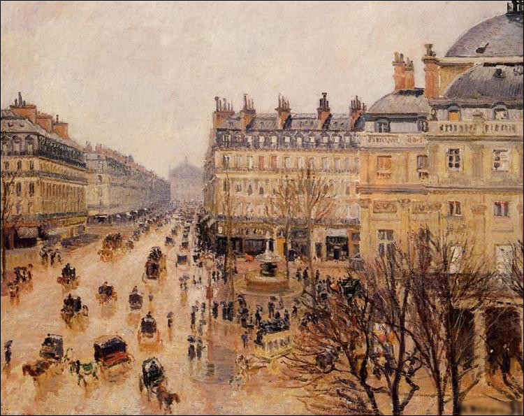 """Quel impressionniste a réalisé le tableau """"Place du théâtre, effet de pluie"""" ?"""