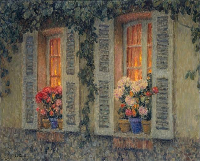 """Quel peintre a réalisé le tableau """"Fenêtres au crépuscule"""" ?"""