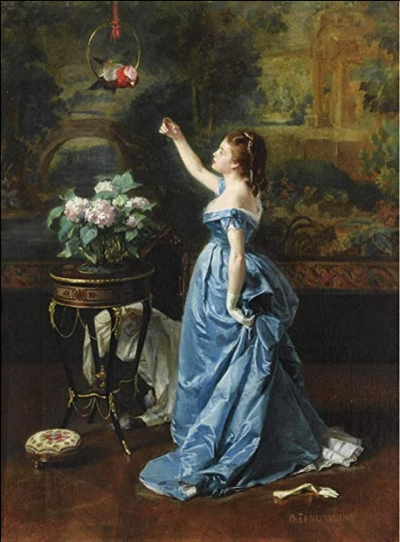 """Quel peintre a réalisé """"Jeune femme au perroquet"""" ?"""