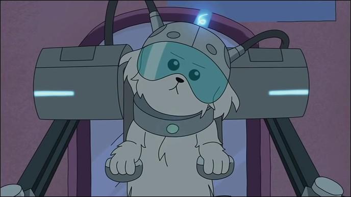 """Dans l'épisode 2 de la saison 1, le chien désire qu'on l'appelle """"Boule de Neige"""". Quel était son ancien nom ?"""