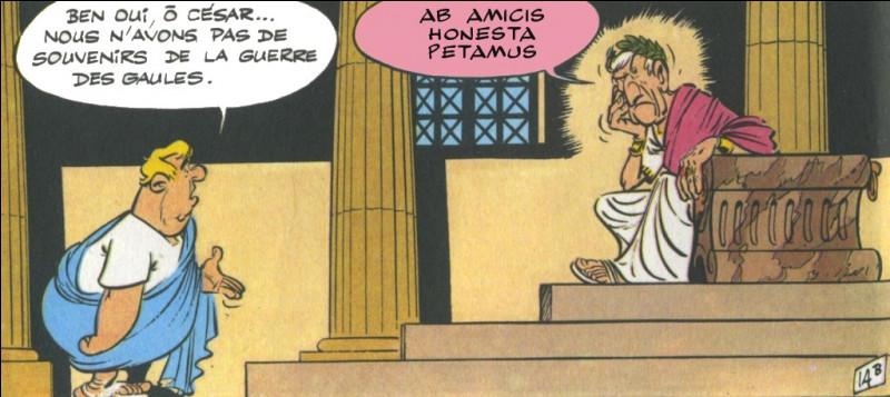 C'est à César lui-même de nous poser une colle : il vous demande aussi le nom de l'auteur de cette citation !