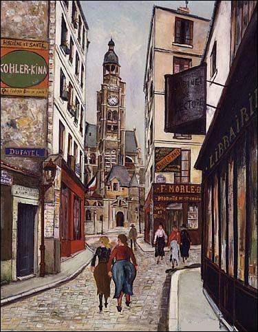 Qui a représenté le clocher de Saint-Etienne-du-Mont ?