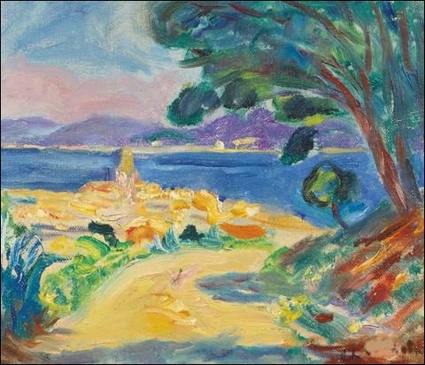 """À qui appartient la toile intitulée """"Le Clocher de Saint-Tropez vu de la Citadelle"""" ?"""