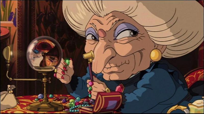 Dans lequel de ces dessins animés voit-on la terrible Yubaba ?