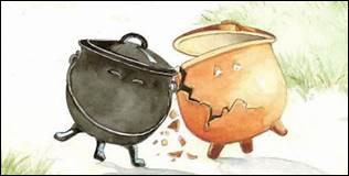 """En quoi était le deuxième pot dans """"Le Pot de terre et le Pot de ... ?"""